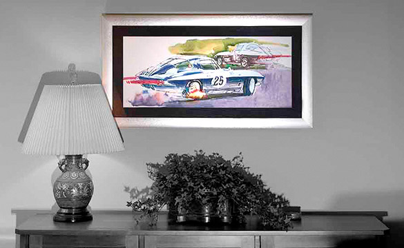 Art In Motion: GM's Corvette Studio Artwork Becomes Framed Objects of Desire