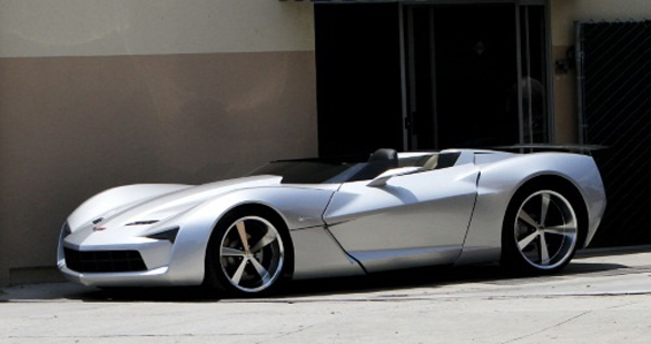 Transformers Corvette Stingray Concept Goes Topless in Beverly Hills