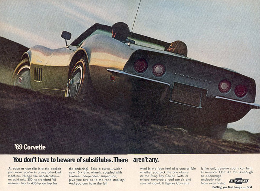 Corvette Ad Watch: 1969 Corvette Magazine Ad