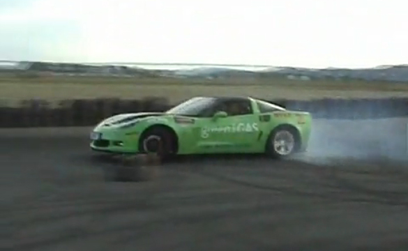 [VIDEO] LPG-Powered Corvette Z06 Claims New Drift World Record