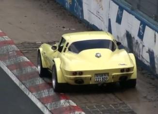 [VIDEO] Classic Corvette Dodges Bullet at Nurburgring