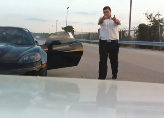 [VIDEO] Auction Employee Gets Busted After Hooning Corvette ZR1