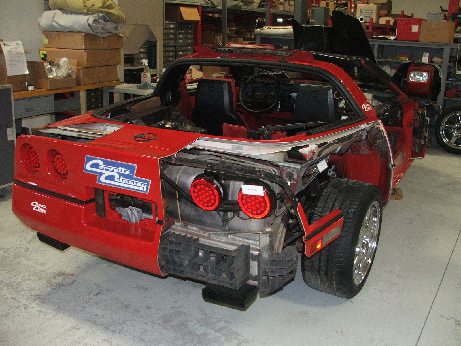 Corvette Central Unveils Cutaway C4 Corvette