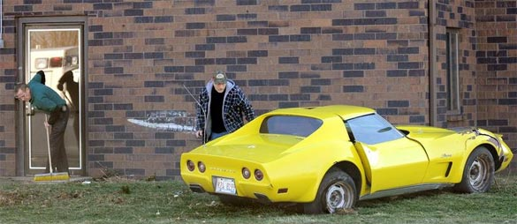 ACCIDENT: 1973 Corvette Crashes into Illinois Hotel