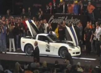[VIDEO] Barrett-Jackson 2011: 2011 Le Mans Anniversary Corvette Z06 Sells for $210,000