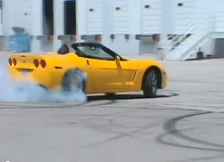[VIDEO] Man Teaches Daughter How To Do Donuts in a Corvette ZHZ