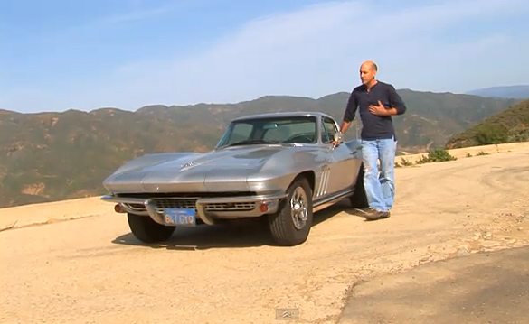[VIDEO] 500K Mile '65 Corvette Sting Ray Coupe Drives On