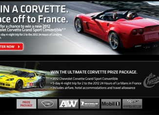 The Race To Win a New Corvette Contest is Now Open