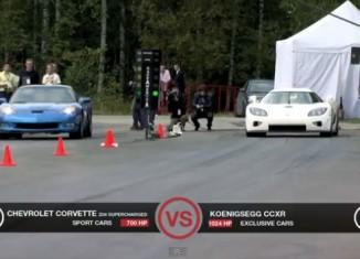 [VIDEO] Supercharged Corvette Z06 vs Koenigsegg CCXR