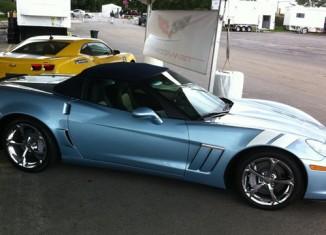 [PIC] 2012 Carlisle Blue Corvette Grand Sport at Bloomington Gold