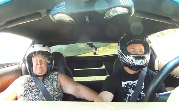 [VIDEO] Mom Gets Taken For a Ride Around Laguna Seca in a Corvette Z06