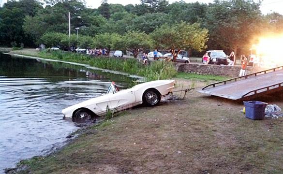 Classic 1962 Corvette Rolls Into a Connecticut Pond - Corvette: Sales, News & Lifestyle