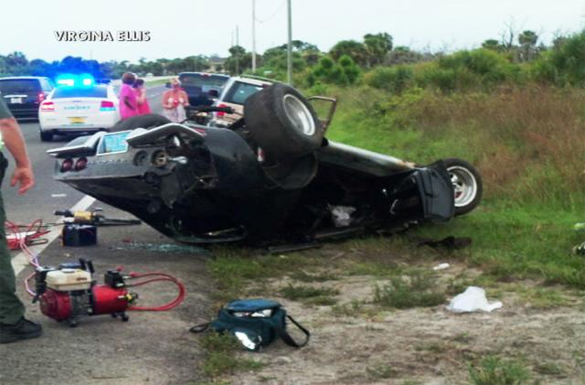 [ACCIDENTS] Early C3 Corvette Flips on US-1 in Florida