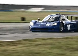 [VIDEO] Corvette Daytona Prototype Turns First Laps