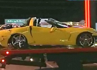 Woman Speeds out of Ferrari Dealership and Crashes Corvette