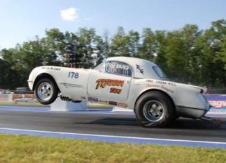 """[VIDEO] Morning Burnout: Lew Stitely's 1953 Corvette """"The Tijuana Taxi"""""""