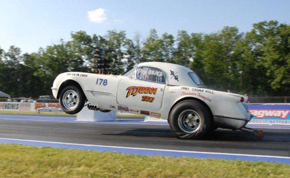 "[VIDEO] Morning Burnout: Lew Stitely's 1953 Corvette ""The Tijuana Taxi"""