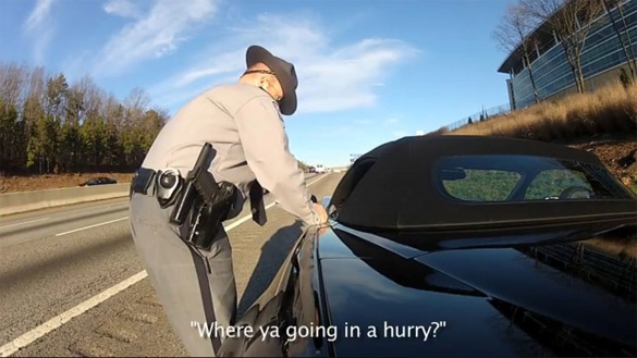 [VIDEO] GoPro Captures Trooper Pulling Over a Speeding C6 Corvette