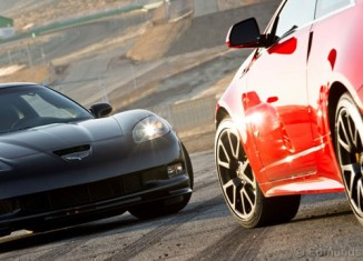 Burnout Super Test: Corvette Z06 Centennial versus Caddy CTS-V Coupe