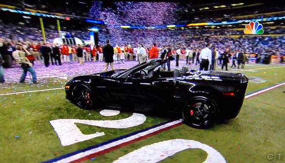 NY Giant's Eli Manning Wins Super Bowl, MVP Title and a 2012 Corvette Grand Sport Centennial Edition