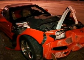 C5 Corvette Run Over by 18-Wheeler in South Florida Hit-and-Run