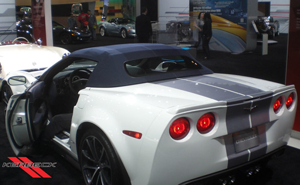 [PICS] 2013 60th Anniversary Corvette Shows Off New Tonal Stripe Top