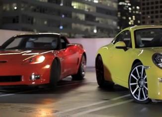 [VIDEO] Motor Trend's Head2Head Pits the Corvette Grand Sport vs the Porsche 911 Carrera S