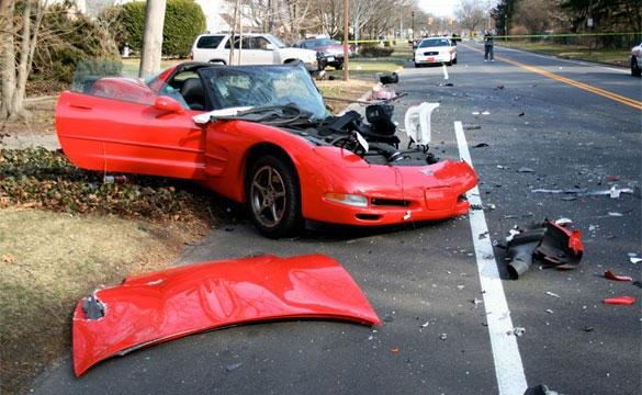 [ACCIDENT] C5 Corvette Destroyed in Long Island Crash