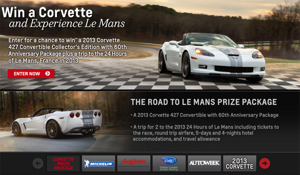 The 2012 Race to Win Corvette Contest is Now Open