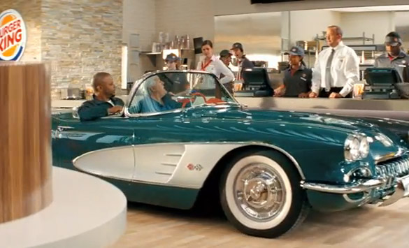 Jay Leno and a C1 Corvette Featured in New Burger King Commercial