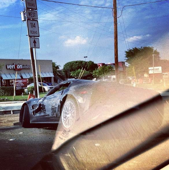 [PIC] Instragam Captures Aftermath of Corvette Accidents