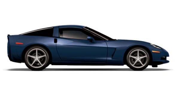 The 2013 Corvette in Night Race Blue