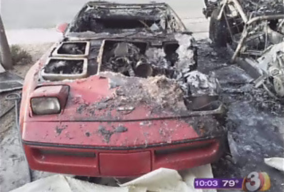 C4 Corvette and H1 Hummer Torched by Arsonist