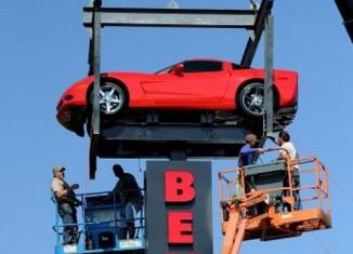 "[VIDEO] Evansville Dealer Puts a Corvette ""High in the Sky"""