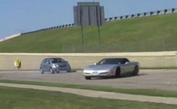 [VIDEO] C5 Z06 Driver Goes Off-Course While Attempting a Burnout at Dallas Cars and Coffee