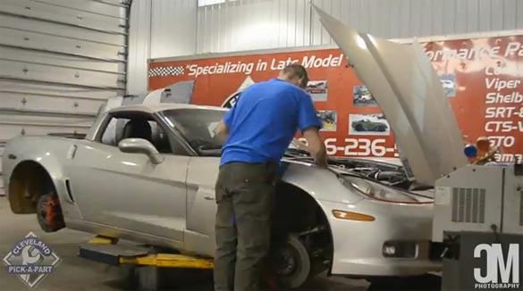 [VIDEO] 2007 Corvette Z06 Is Dismantled for Parts in Time Lapse Video
