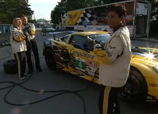 [VIDEO] Corvette Racing's Mosport Pit Stop Demonstration - in High Heels?