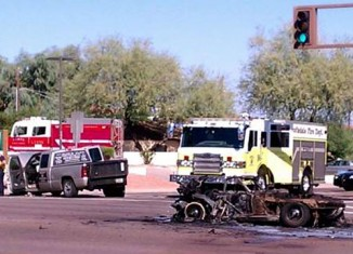 [ACCIDENT] Corvette Burns to the Ground after Rear-Ended by a Pickup Truck