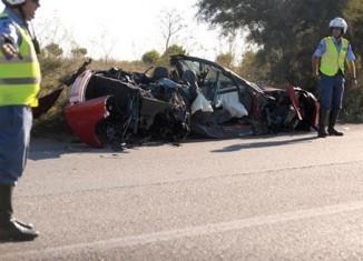 C6 Corvette Damaged in Crash on the Isle of Malta