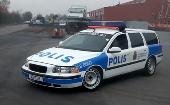 [VIDEO] No Escaping the Corvette-Powered Volvette V70 Police Car