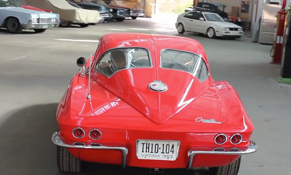 [VIDEO] Split Personality: 1963 Corvette Convertible has a Split Window Hard Top