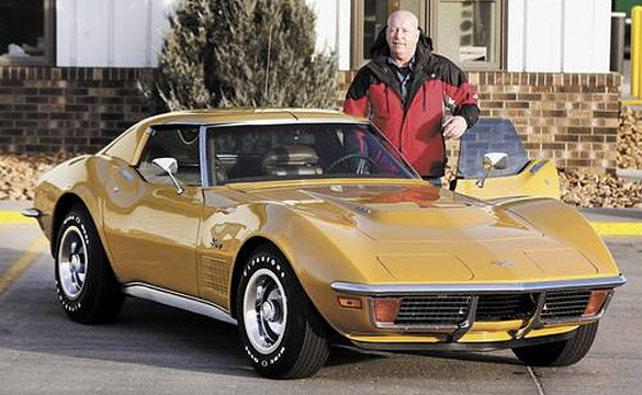 Retiring Employee Receives a 1972 Corvette for His 40 Years of Service