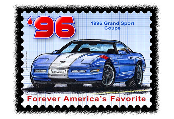 Give the Gift of Corvette Artwork from Scott Teeters' Illustrated Corvette Series