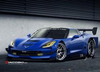 2014 Corvette Stingray Rendered as the C7.R Race Car