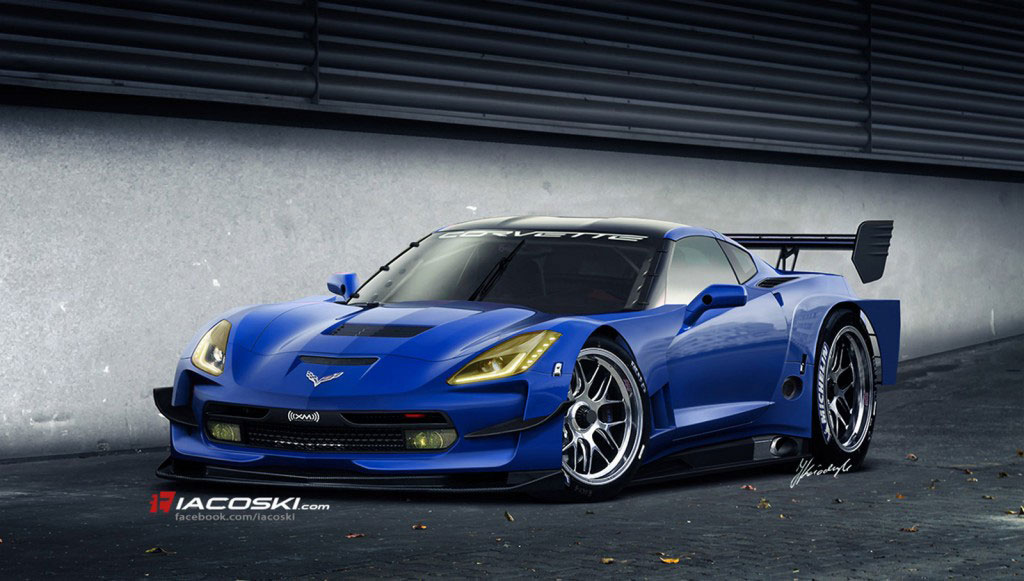 2014 Corvette Stingray Rendered as the C7.R Race Car