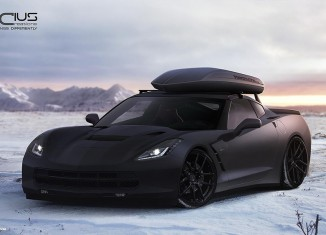[PIC] Rendered 2014 Corvette Stingray in Matte Black with a Cargo Carrier