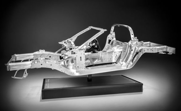 2014 Corvette Stingray's Aluminum Frame Provides Weight Savings and a Stiffer Ride