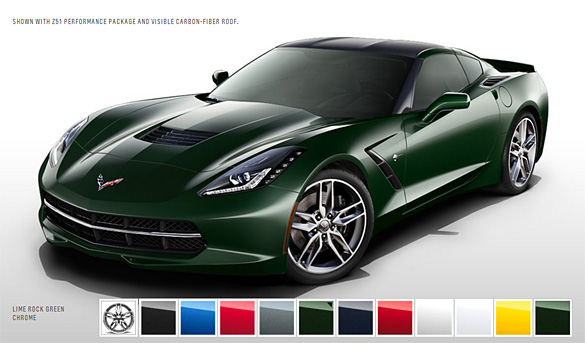 2014 Corvette Stingray For Sale >> 2014 Corvette Stingray's Color Configurator Allows You to ...