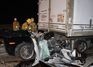 Corvette Z06 Owner Survives Horrific Crash on the 405 in California