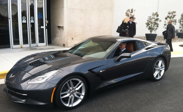 GM Chairman/CEO Akerson Takes the New 2014 Corvette Stingray to Capital Hill